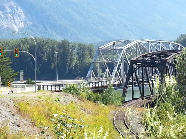 Terrace bc. They built a new bridge but I still prefer the old one.
