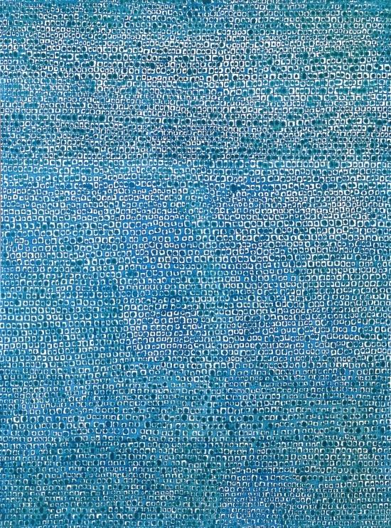 """Whanki Kim, """"Where, in What Form, Shall We Meet Again"""" (1970), oil on canvas, 233 x 172 cm"""