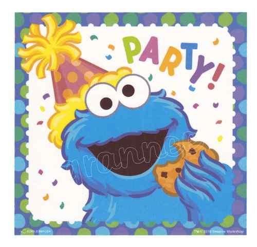 Cake Decorating Sesame Street Birthday : COOKIE MONSTER SESAME STREET BIRTHDAY Edible Image  CAKE ...