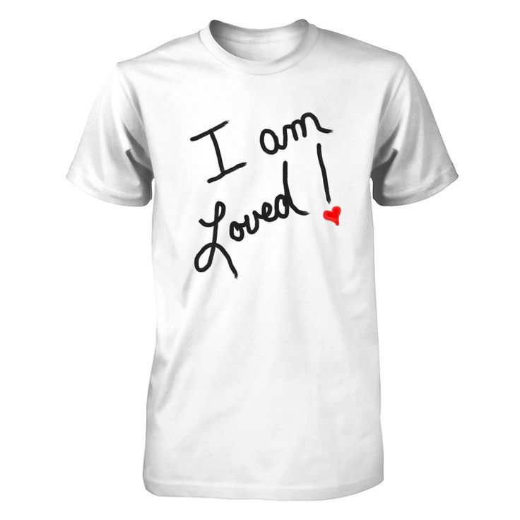 I am Loved - Black Print One of the shirts in the I AM collection. All of the shirts in this line come in white with black print and black with white print featuring an I AM statement. You can purchase as a short or long sleeved tee, sweat shirt, hoodie, or tank top.