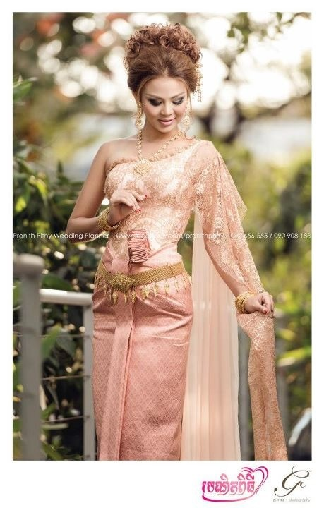 gorgeous khmer wedding outfit.