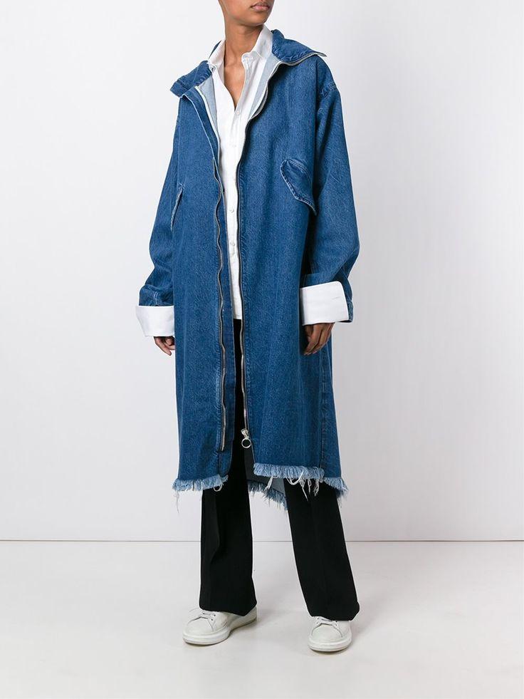 Marques'almeida удлиненное джинсовое пальто на молнии