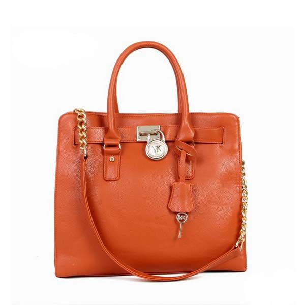 Michael Kors Hamilton Smooth Outlook Large Orange Tote  Pretty color!