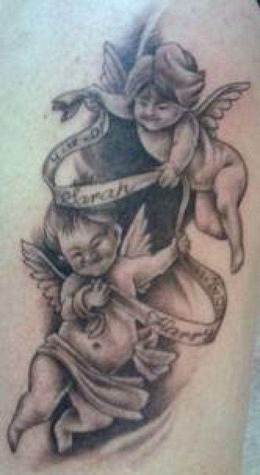 2017 trend Tattoo Trends - Cherub Tattoos And Meanings-Cherub Tattoo Designs And Ideas-Baby Angel Tattoos
