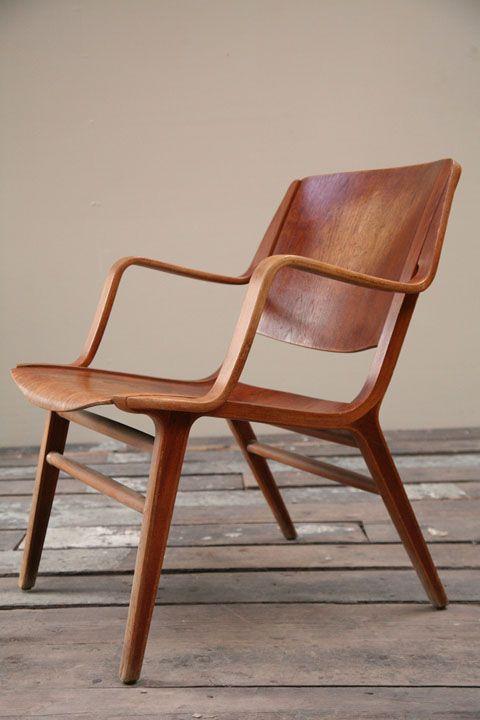 Peter Hvidt & Orla Mølgaard-Nielsen; Bentwood 'AX' Chair for Fritz Hansen, 1947.