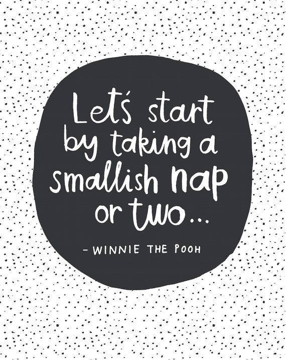 Lets Start With A Smallish Nap or Two... - Winnie The Pooh Quote. Hand-lettered…