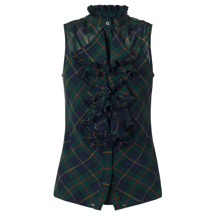 Tartan Trend - Plaid Silk Top, £95, Ralph Lauren