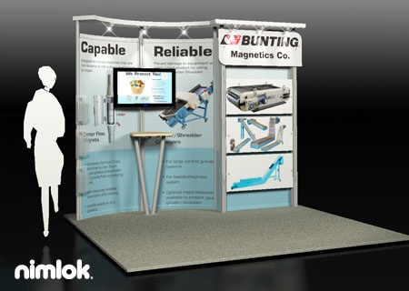 Nimlok Designs And Builds Trade Show Booths And Manufacturing Exhibits. For  Bunting We Built A