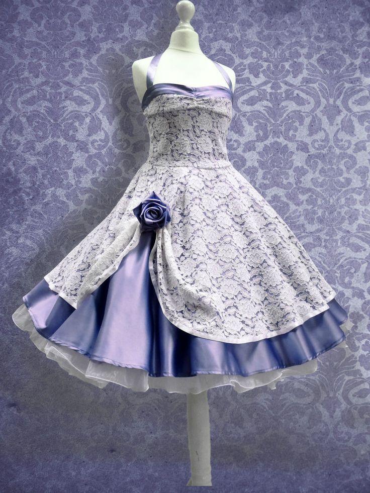 NEU! 50er Jahre Standesamt Brautkleid Abendkleid Petticoat kleid Abiballkleid anstatt lila mein petrolgrün *swoon*