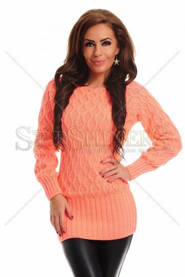 MissQ Knitted Charm Orange Blouse