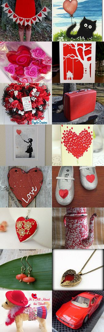 Red and Hearts  by Cristi on Etsy--Pinned with TreasuryPin.com