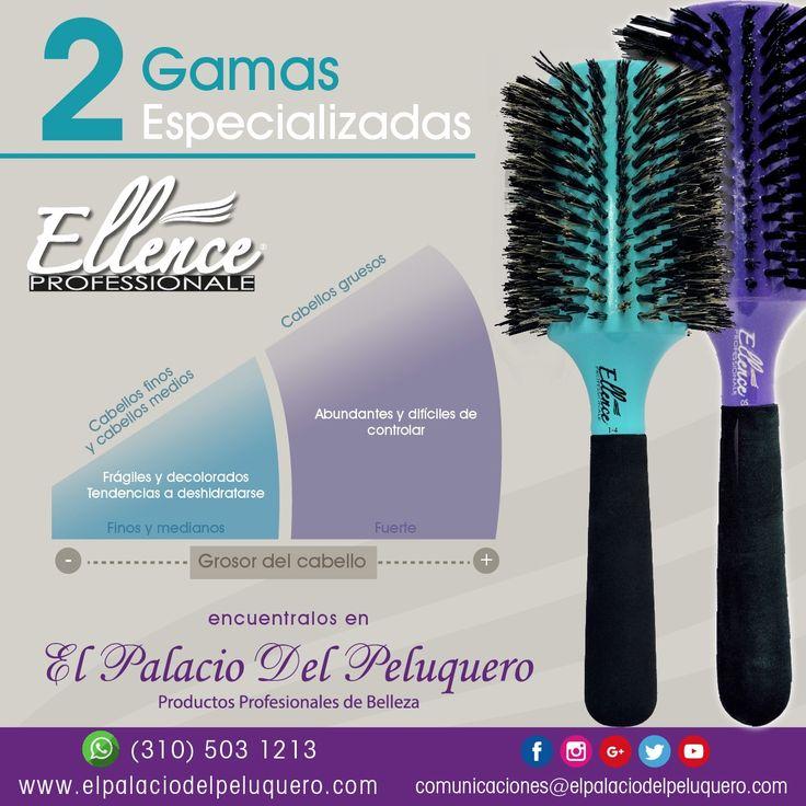 Consigue los #cepillos para el #cabello #Ellence #profesional en El Palacio del Peluquero   Contáctenos: www.elpalaciodelpeluquero.com Celular: (310) 503 1213 (Whatsapp) comunicaciones@elpalaciodelpeluquero.com