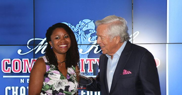 The New England Patriots Charitable Foundation honored the 26 winners of the 2017 Myra Kraft Community MVP Awards on Thursday, June 8, 2017 at Gillette Stadium. The receipients were recognized for their efforts by Patriots Chairman and CEO Robert Kraft, Patriots Charitable Foundation President Joshua Kraft, Patriots Executive Director of Community Affairs Andre Tippett, as well as QB