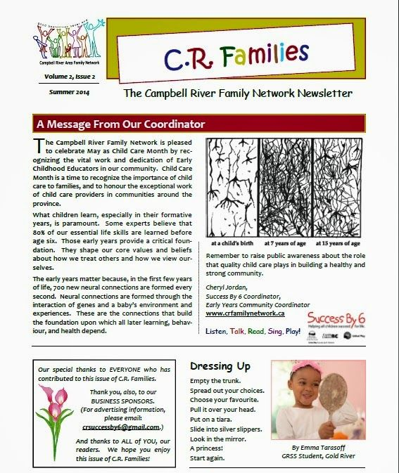 Campbell River Family Network: Check out our new early learning community newslet...