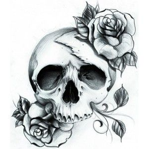 Black Skull Tattoo (http://www.tattoo-sticker.com/tetes-de-mort/613-black-skull-tattoo.html)