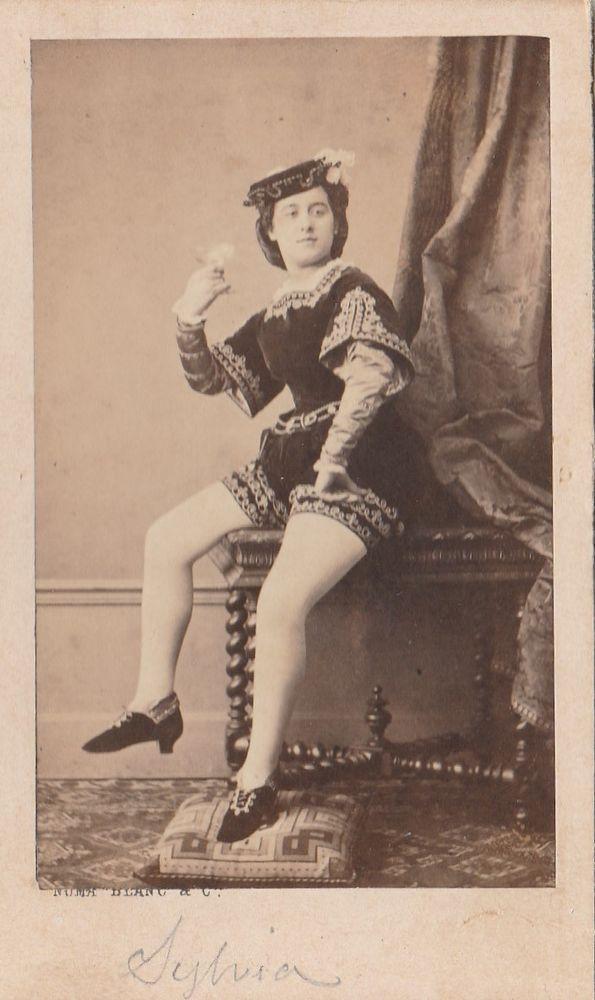 Cdv 1860 c.a. Commediante in Posa by Numa Blanc Paris -L5445