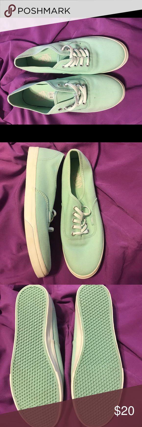 Tiffany Blue Vans Never been worn Lace up Vans Vans Shoes Sneakers