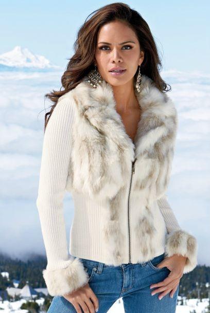 Snow Bunny Zip-Front CardiganFaux Fur, Fur Coats, Boston Proper, Winter, Fashion Clothing, Fashion Style, Outfit, Snow Bunnies, Zip Front Cardigans