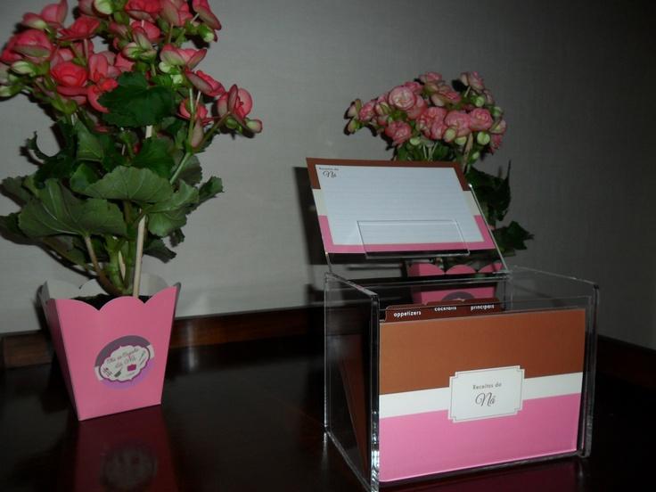 Bridal shower - recipe box