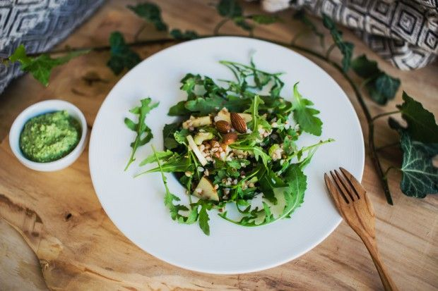 Buckwheat Salad with Herb Pesto