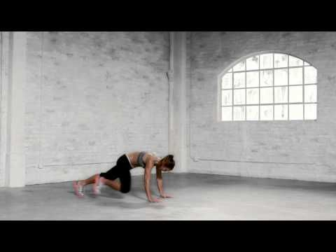 abs: 30 sec how-to side-crunch to burpee