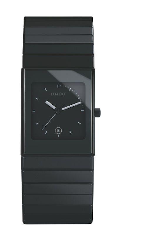 Catálogo de relojes Rado de cerámica: Reloj Rado Cerámica en negro, tres agujas (152 0713 3 015)