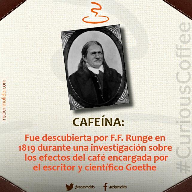 ¿Sabías quién, cuando y por qué se descubrió la #cafeína? #CuriousCoffee