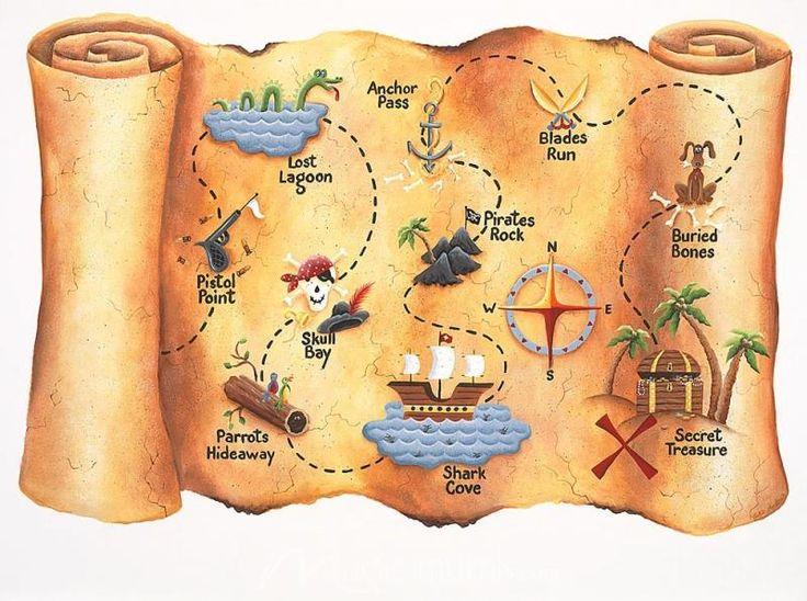 Карта сокровищ пиратов картинки