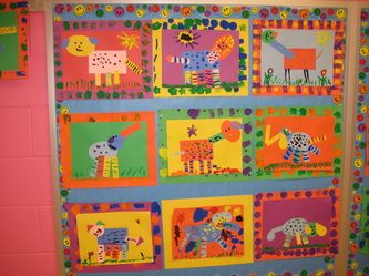 Kindergarten - Shape art