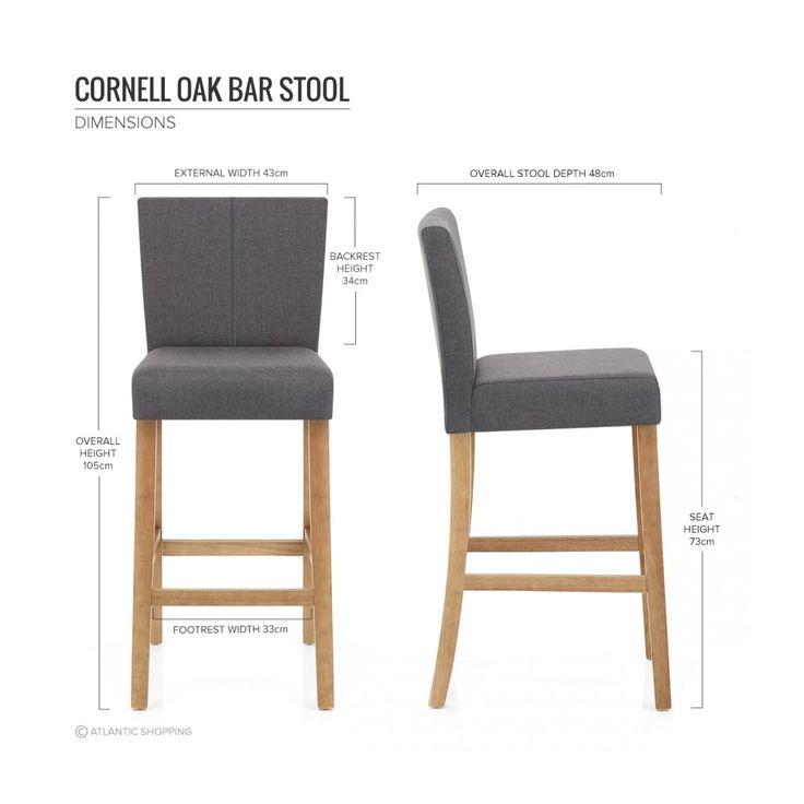 tabouret de bar tissu bois cornell ultimate kitchen pinterest bar. Black Bedroom Furniture Sets. Home Design Ideas