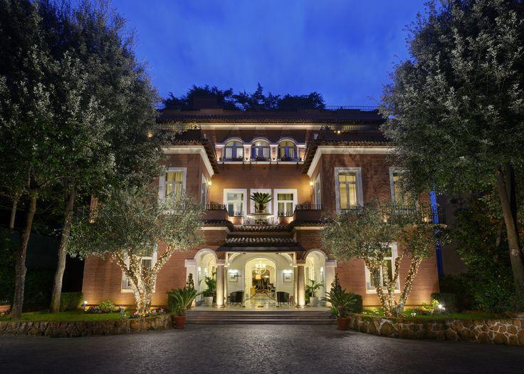 Stunning facade of a Roman Villa