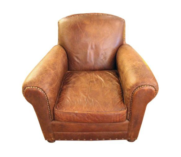 leather club chairs ikea antique furniture brown chair and ottoman for sale uk