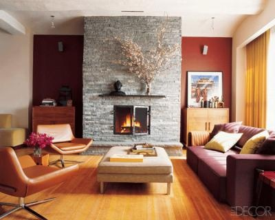Rob Morrows Living Room Niches Painted Barn Red By Donald Kaufman Color Collection
