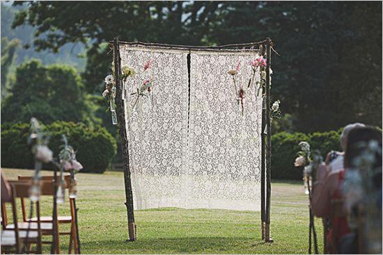 Casamento decoração com renda