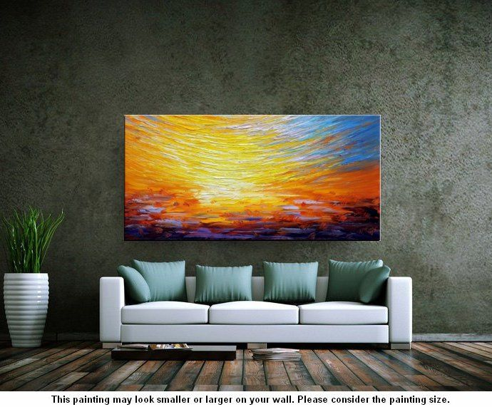 Heavy Texture Art, Abstract Landscape Art, Wall Art, Living Room Wall Art, Abstract Art, Large Art, Abstract Painting, Original Painting