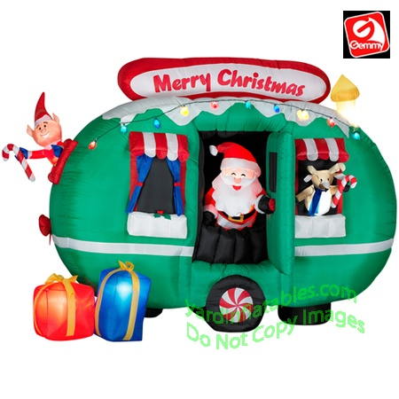 17 best christmas camping images on pinterest 5th wheels for Airstream christmas decoration