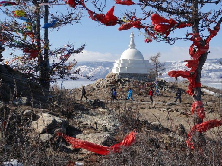lake Baikal buddhist stupa