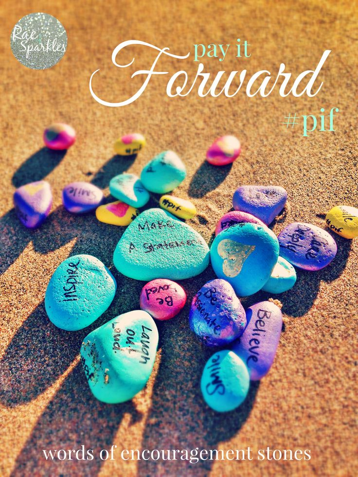 """Words of Encouragement Stones - Leave painted rocks all over the place for a little """"pay it forward"""""""