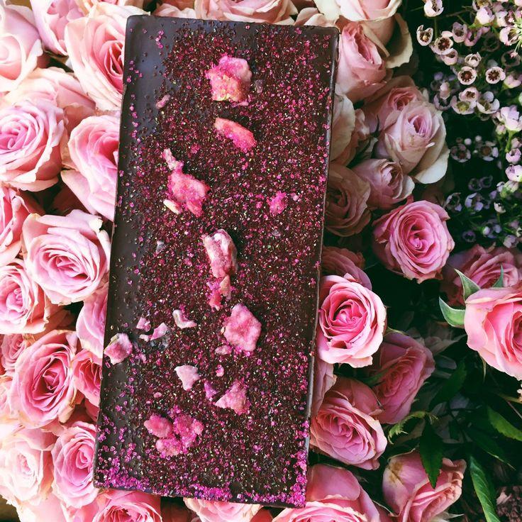 Dark Chocolate ROSE Bar - Chocolate Bar - Compartes Chocolatier Gourmet Chocolate - 1