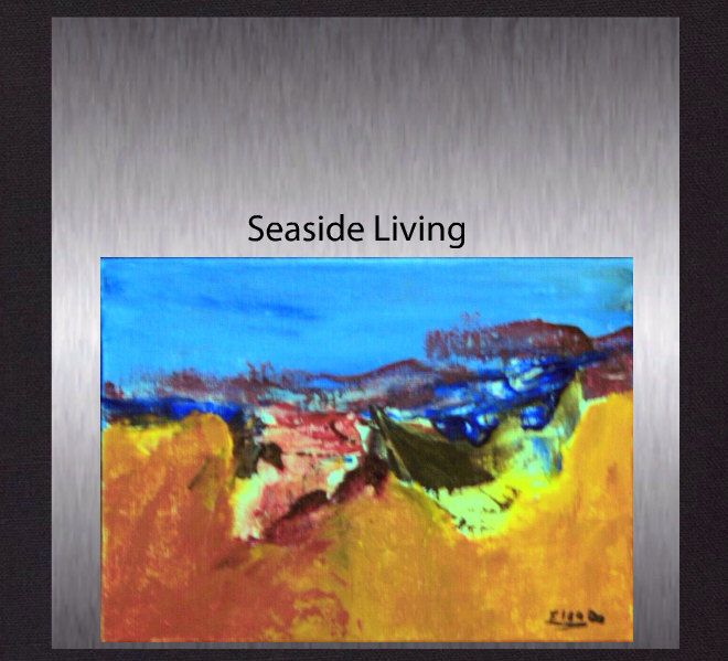 Seaside Living - Original Acrylic Abstract. Modern Colourful Hand Painted Painting  not a print. by ElcoStudio on Etsy