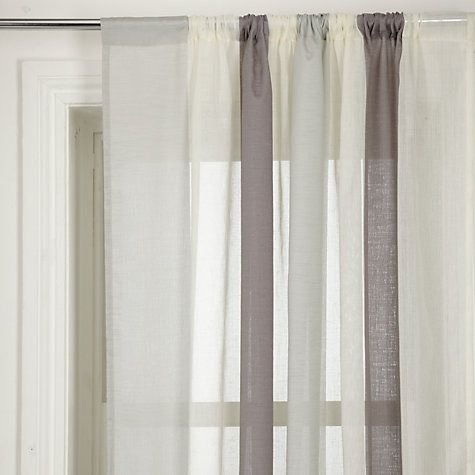 Blue Grey And Cream Voile Curtain