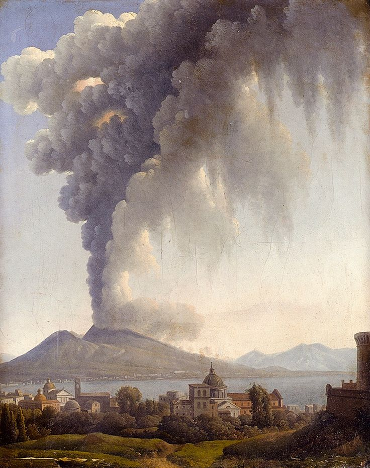 Alexandre Hyacinthe Dunouy, Bay Of Naples With Vesuvius Erupting