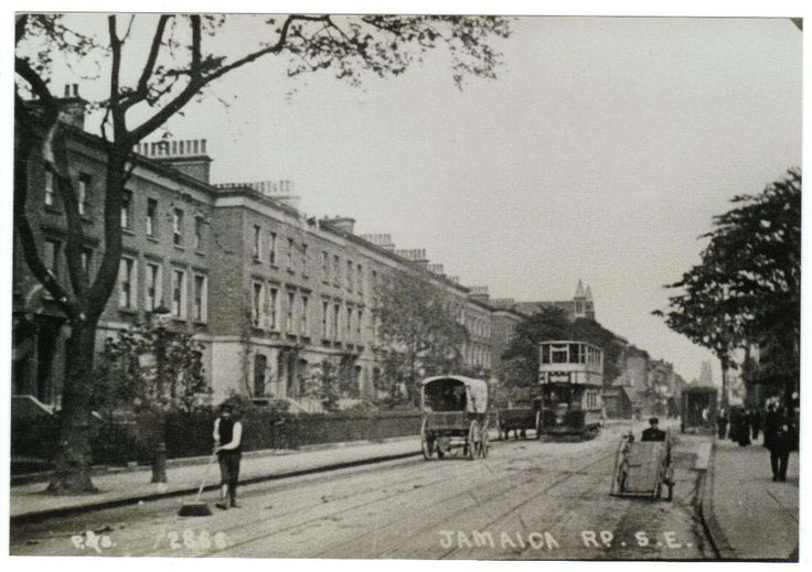 Jamaica Road.  The Houses to the Left of the Picture, were all flattened by either a Land mine,or delayed action Bombs,around 09.00am one morning.i can remember a wall of yellow dust,as high as the rooftops,rolling along Major Road,and depositing yellow Brickdust on everything...Mum had a fit,as she thought it was Mustard Gas because of the colour,her deep seated fears from the First World War..