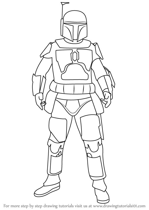 Draw Boba Fett Boba Fett Is A Male Character From Star
