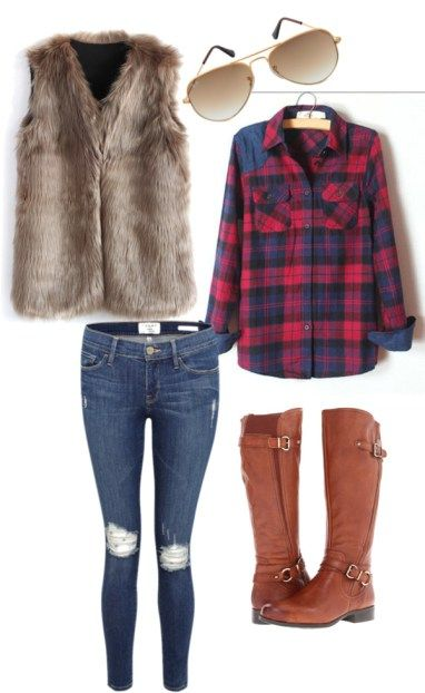 Faux fur vests. They are the perfect addition to any winter wardrobe