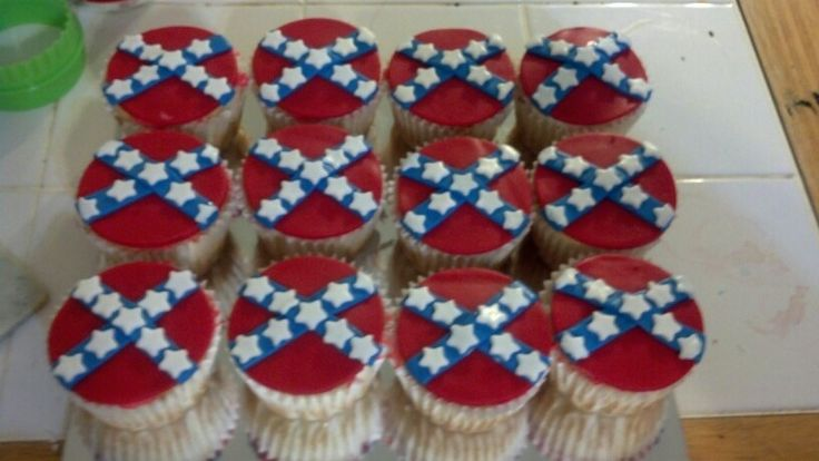 Rebel flag cupcakes
