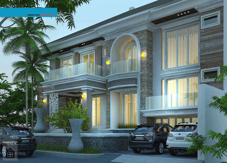Desain Rumah Mewah Mediteran 2 Lantai Semybasement, Rumah ...