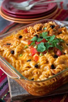 Quick and Easy Chicken Enchilada Pasta from Pressure Cooking Today
