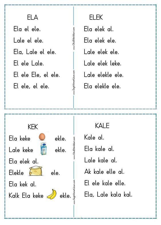 1.sınıf resimli elak okuma metinleri ile ilgili görsel sonucu