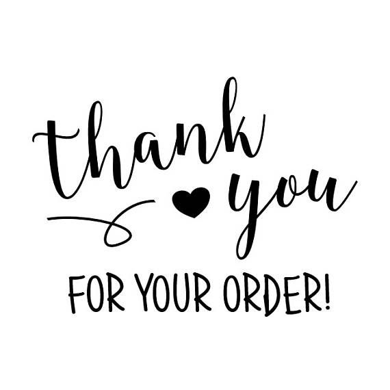 THANK YOU For Your Order STAMP  packaging stamp envelope
